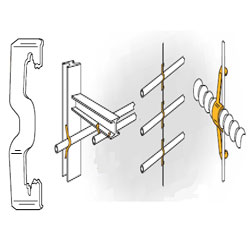 Conduit Hangers From Flange Wire or Plain Rod, K12