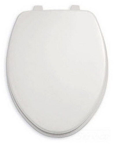 American Standard Rise & Shine Toilet Seat With Cover Elongated Aolid Plastic Seat