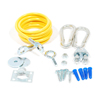 """T&S, Gas Appliance Connector, 5"""" Cable with Hardware, AG-RC"""