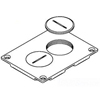 Wiremold, Brass Duplex Cover Plate, 828SPTC