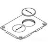 Wiremold, Brass Duplex Cover Plate, 828SPTC