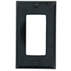 Leviton, 80401-E, 1 Gang Decora/GFI, Black, Wall Plate