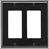 Leviton, 80409-E, 2 Gang 2 Decora/GFI, Black, Wall Plate