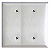 Mulberry, 97852, 2 Gang 2 Blank, Jumbo, Stainless Steel, Wall Plate