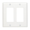 Mulberry, 86835, 2 Gang 2 Decora/GFI, Jumbo, Metal, White, Wall Plate
