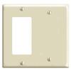 Mulberry, 92422, 2 Gang 1 Decora/GFI 1 Blank, Lexan, Ivory, Wall Plate