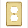 Mulberry, 64101, 1 Gang Duplex Receptacle, Polished Brass, Wall plate