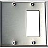 Mulberry, 97422, 2 Gang 1 Decora/GFI 1 Blank, Stainless Steel, Wall Plate