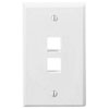 Leviton, QuickPort® Single Gang 2-Port Wallplate, 41080-2WP