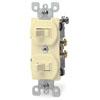 Leviton, 5224-2I, Traditional Style Single-Pole / Single-Pole AC Combination Switch