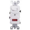 Leviton, 5226-W, Traditional Style Single-Pole / Neon Pilot AC Combination Switch