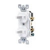 Leviton, 5224-2W, Traditional Style Single-Pole / Single-Pole AC Combination Switch