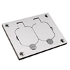Wiremold, 828R-TCAL, Recessed Floor Box Coverplate, Duplex Cover Plate
