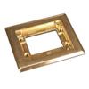 Wiremold, 817C, 1-Gang Brass Carpet flange