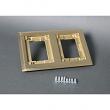 Wiremold, 827C, 2-Gang Brass Carpet flange