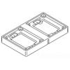 Wiremold, 827T, 2-Gang Brass Tile flange