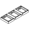 Wiremold, 837T, 3-Gang Brass Tile flange