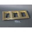 Wiremold, 837C, 3-Gang Brass Carpet flange