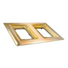 Wiremold, 827B, 2-Gang Brass Combination Carpet and Tile Flange