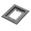 Wiremold, 817PCC-BLK, 1-Gang Nonmetallic Carpet Flange
