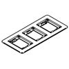 Wiremold, 838TCAL, 3-Gang Brushed Aluminum Combination Carpet and Tile Flange