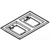 Wiremold, 827PCC-BLK, 2-Gang Nonmetallic Carpet Flange