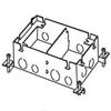 Wiremold, 880M2, Omnibox Series Shallow Steel Floor Box