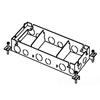 Wiremold, 880M3, Omnibox Series Shallow Steel Floor Box