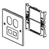 Wiremold, V4047BF, 2-Gang Overlapping Cover Duplex & Modular Furniture Cover Plates