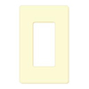 Leviton, 80301-SI, 1-Gang Decora Plus Wallplate Screwless Snap-On Mount, Ivory