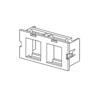 Wiremold, CM 2A Dual Flushmount Unloaded Keystone Module, CM2-U2KEYA-GY