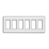 Leviton, 6-Gang Decora Plus Screwless Snap-On Wallplate, 80326-SW