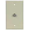 Cooper Wiring Devices, Flush Mount Wallplate with Coaxial Adapter, 1172V