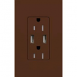 Lutron, Satin Color USB Tamper-Resistant Outlet, SCR-15-UBTR-TP