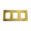 Wiremold, 837B, 3-Gang Brass Combination Carpet and Tile Flange