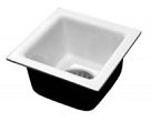 "Jones Stephens, No Hub Procelain Floor Sink, 2"" No Hub Procelain Floor Sink, M77463"