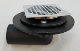 """Approved Vendors, No Hub Angle Shower Drain Square Top, 2"""" No Hub Shower Drain Square Top, M77490"""