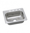 "Elkay, DD125224, Dayton 25"" Single Bowl Drop In Kitchen Sink with Center Drain, M77733"