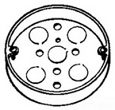 Crouse, TP269, Steel Round Ceiling Pan Boxes, M77796