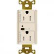Lutron, CAR2S-15-DTR-LA, Duplex Wireless Receptacles Light Almond, M77872