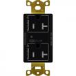 Lutron, CAR2S-20-DTR-BL, Duplex Wireless Receptacles Black, M77875