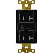 Lutron, CAR2S-20-STR-BL, Split Receptacles Black, M77878