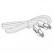 "Nora Lighting, NUA-812W, 12"" Jumper Cable, White, M78070"