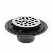 "Jones Stephens, D50001, 4"" Shower Drain/Floor Drain w/ Stainless Steel Round Strainer PVC, M78291"