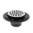 "Jones Stephens, D50001, 4"" Shower Drain/Floor Drain w/ Stainless Steel Round Strainer PVC, M78291"