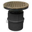 "Jones Stephens, D53106, 3"" PVC Over Pipe Fit Drain Base with 3"" Plastic Spud and 6"" Nickel Bronze Strainer , M78336"