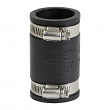"""EVERFlOW, 4823, 1-1/4"""", Black Flexible Pvc Rubber Coupling with Stainless Steel Clamps, M78447"""