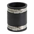 """EVERFLOW, 4825 , 2"""" Black Flexible Pvc Rubber Coupling with Stainless Steel Clamps, M78449"""