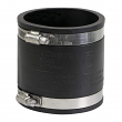 """EVERFLOW, 4826 , 3"""" Black Flexible Pvc Rubber Coupling with Stainless Steel Clamps, M78450"""