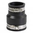 """EVERFLOW, 4831 , 2 X 1-1/2"""" Black Flexible Pvc Rubber Coupling with Stainless Steel Clamps, M78453"""